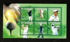 Guinea 2010 - Famous Golf, Obama, Clinton, Jordan - Sheet of 6 Stamps - MNH