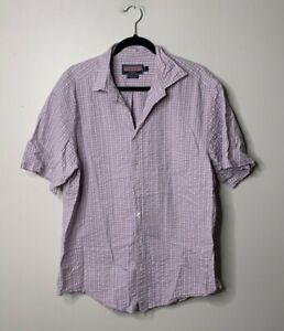 Vineyard Vines Men's Size Large Short Sleeve Button Front Murray Shirt Plaid