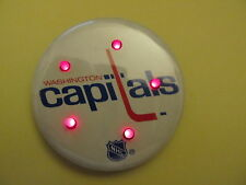 """WASHINGTON CAPITALS NHL LIGHTED BUTTON - 2 1/4"""" WINCRAFT - MADE IN USA - VINTAGE"""