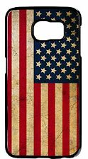 USA Flag US Grunge Stars Black Case for Samsung Galaxy S6 s6 Edge S5 S4 S3 cover