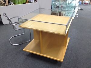 LOT#F Quality Used Wooden Dump Bin on Casters shop fitting NOBLE PARK, Vic