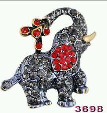 CRYSTAL BROOCH elephant BROOCH WEDDING BIRTHDAY Christmas mum nanna cute 645
