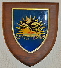 Malawi Police desk or wall plaque shield crest badge constabulary