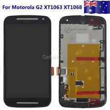 Blk LCD Screen Touch Digitizer Frame Glass For Motorola Moto G 2nd XT1063 XT1068