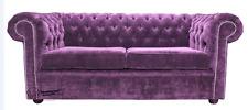 Chesterfield Original 2 Seater Velluto Amethyst Purple Fabric Sofa Settee SS Stu