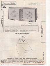 1966 DELMONICO FA-725 FC-726 RADIO SERVICE MANUAL PHOTOFACT SCHEMATIC DIAGRAM