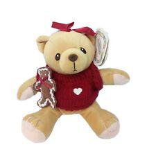 Vintage 1999 Enesco Cherished Teddies Cookie Plush Bear Christmas Teddy Toy