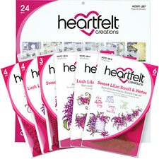 Heartfelt Creations Sweet Lilac Collection 3 Stamps 3 Dies 1 Paper Pad IWIA-195