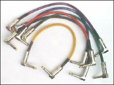 6 GYC Heavy Duty Guitar Effects Pedal Patch Leads with Right Angle Plugs 30cm