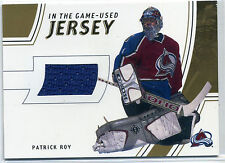 2002-03 Be A Player BAP In The Game Used GUJ-4 Patrick Roy Gold jersey #/10