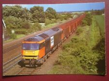 POSTCARD C4-7 LOAD HAUL' LIVERY CLASS 60 LOCO NO 60007 PASSES MELTON ROSS 1/6/96