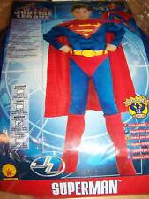 Boy's Size Medium 8-10 Muscled Superman Super Man Halloween Costume New