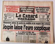 Le Canard Enchaîné 25/06/1997; Dessin de Cabu/ Des papiers pour les sans papiers