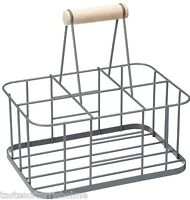 Kitchen Craft Living Nostalgia Wine or Milk Bottle Holder Carrier Rack & Handle