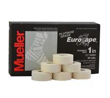 6 Rollen  Mueller Platinum Grade Eurotape Sporttape weiß 2,54 cm  x 10 m Sport