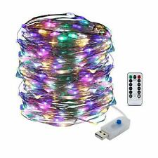 5-20M 50/100/200LED Copper Wire Party USB Twinkle LED String Fairy Lights Remote