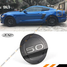 For 15-18 Ford Mustang 5.0 Carbon Fiber Texture Add-on Gas Fuel Door Cover Cap