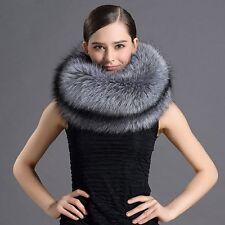 Elegant Warm Women Real best Complete the Fox fur neckerchief/scarf Silver Fox