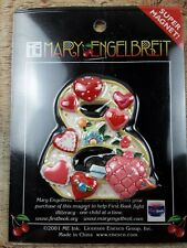New- Mary Engelbreit Decorative Super Magnet Number Eight 8 Hearts