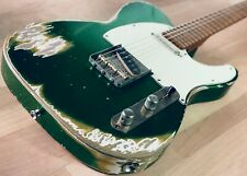 S71 Custom Shop CANDY GREEN OVER GOLD TOP SUPER HEAVY-RELIC «T», Handwound Pups
