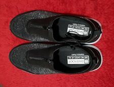 Shoes Rivers Barefoot Memory Foam Zip Up Slip-On Womens AU 8 EU 40 Black Silver