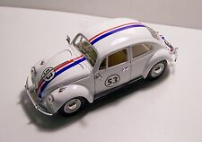 1967 Herbie Volkswagon VW Beetle Custom Graphics 1:24 White Diecast