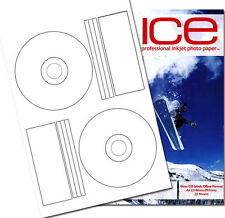 200 Ice Brillant étiquettes CD/DVD Offset Style