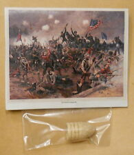 Civil War battlefield souvenir musket bullet dug relic photo tag Spotsylvania VA
