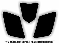 Yamaha YFZ 450 Black Number Plate Backgrounds Graphics decals sticker yfz450
