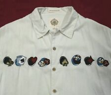 Paradise Collection Gambling Poker Chips Cards Dice Casino Silk Men's L