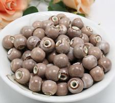 un lote 20 cuentas de cerámica-bola de cerámica caqui -bisutería-bola cerámica