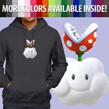 Nintendo Super Mario Bros Piranha Plant Cloud Pullover Sweatshirt Hoodie Sweater