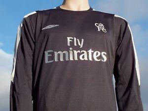 Rare BNWT Umbro Chelsea FC Shirt 2004-2005 Black Silver Player Issue LS Away XL
