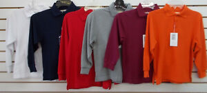Toddler & Boys Universal Assorted Long Sleeved Polo Shirts Sz 2T - 16