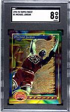 1993 - 1994 Topps Finest #1 Michael Jordan SGC 8 Mint