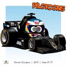 Print on Canvas Haas VF-19 2019 #8 Romain Grosjean (SUI) by BM