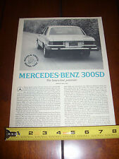 1978 MERCEDES BENZ 300SD DIESEL - ORIGINAL ARTICLE
