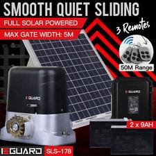E-Guard Sliding Electric Gate Opener Full Solar Power Automatic Motor Remote 5M