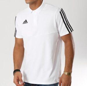 Adidas Aeroready Herren Polo Shirt Hemd Sport Freizeit Tennis Top weiß/schwarz M