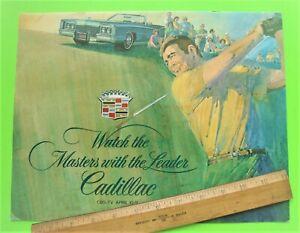 1971 CADILLAC MASTERS GOLF TOURNAMENT HUGE BROCHURE 8-pgs ELDO CONVERTIBLE Xlnt+