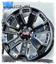 22 Inch Gloss Black Chrome Inserts Gmc Yukon Denali Oe Replica Wheels 6x55 24