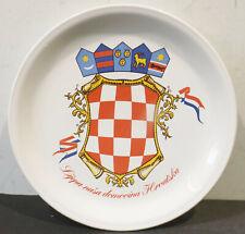 "Wandteller  Dm.24cm "" Lyepa Nasa Domovina Hruatska "" unsere Heimat Kroatien"
