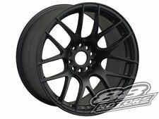 XXR 530 Flat Black 17x9.75 +25 5x114.3 5x100 240SX Civic RSX TSX IS300 Golf STI