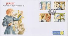 Unaddressed Jersey First Day Cover FDC 2011 Women of Achievement Set