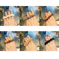 Set of 6 Hair Bands Scrunchies Bun Ring Elastic Scrunchy Bobble Ponytail Holder