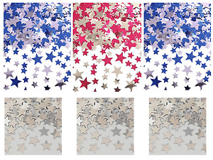 Wedding Stars Table Confetti Foil Decorations Birthday Party Pink Blue Silver