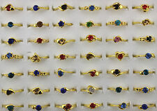 Bijou neuf grand Multicolore bague en alliage mix cristal LOT 10PCS Rhinestone