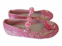 NWT COASTAL PROJECTIONS BRIGHT PINK SEQUIN GIRLS SHOES Easter 0 1 3  6 7 9 Tdlr