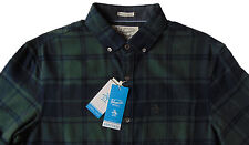 Men's PENGUIN OLIVE GREEN Plaid Flannel Shirt Slim Fit Medium M NWT NEW Cool!