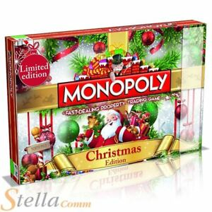 Christmas Limited Edition Monopoly Family Trading Board Game